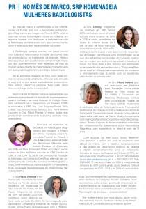 A Sociedade de Radiologia e Diagnóstico por Imagem do Paraná, homenageia as Médicas Radiologistas
